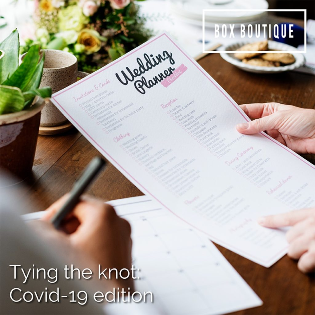 Tying the knot: Covid-19 edition
